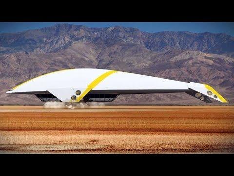 信じがたい形の未来の飛行機width=190